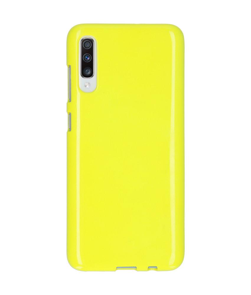 Neon Backcover Samsung Galaxy A70 - Fluor Geel