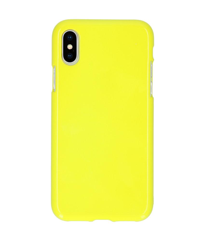 Neon Backcover iPhone X / Xs - Fluor Geel
