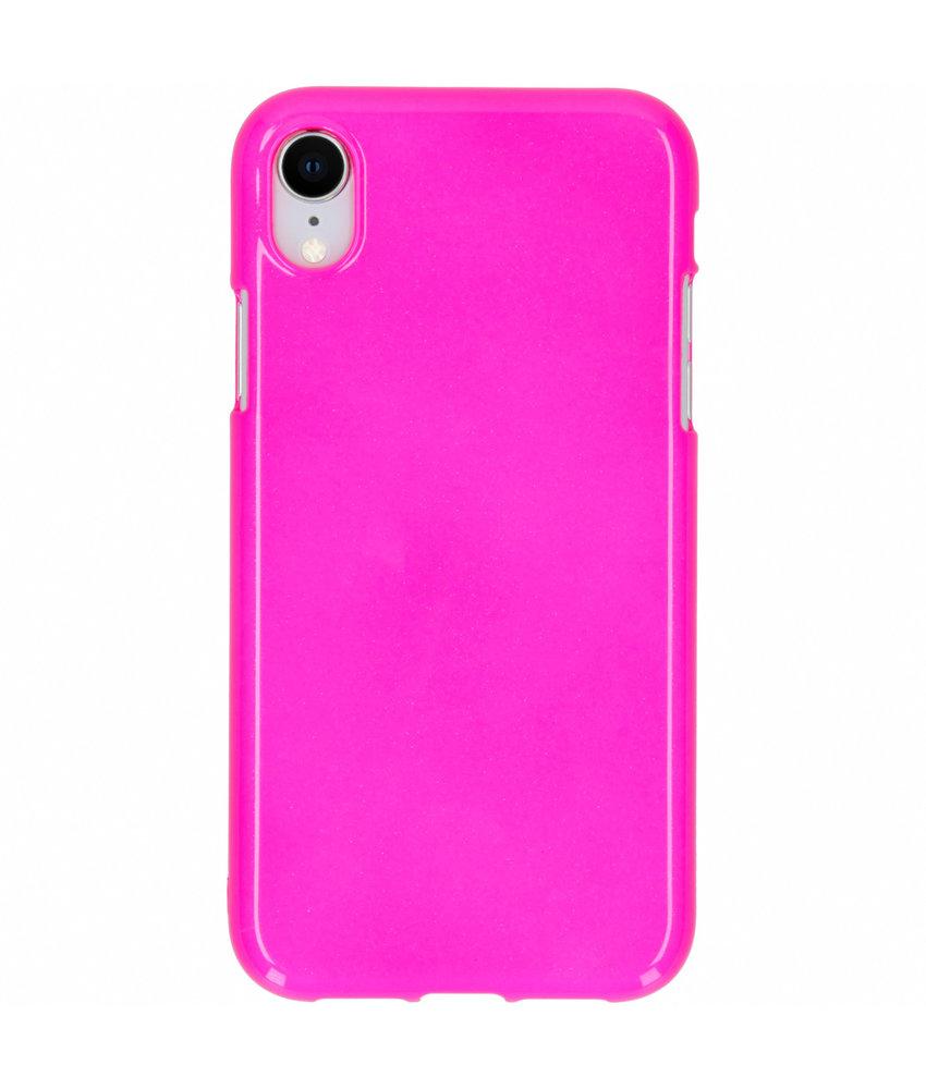 Neon Backcover iPhone Xr - Fluor Roze