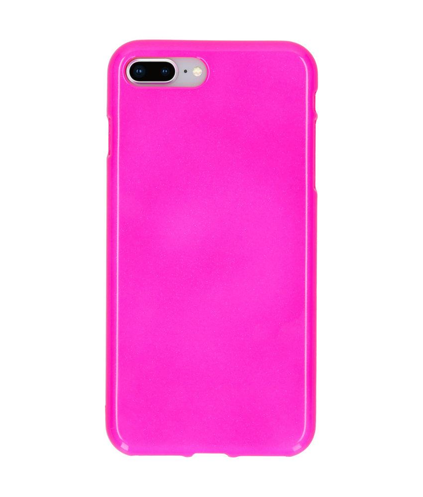 Neon Backcover iPhone 8 Plus / 7 Plus - Fluor Roze