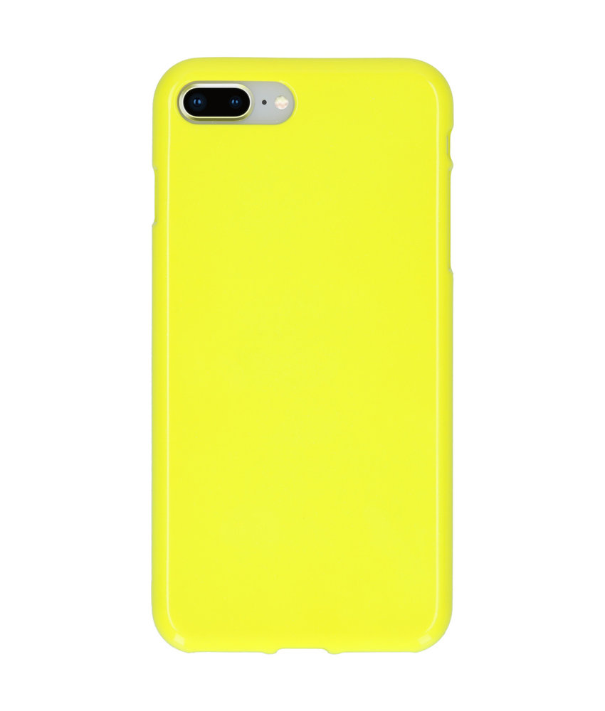 Neon Backcover iPhone 8 Plus / 7 Plus - Fluor Geel