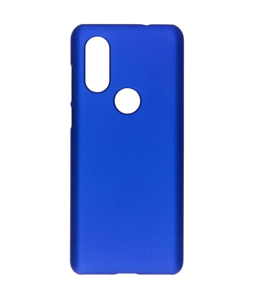 Effen Backcover Motorola One Vision - Blauw