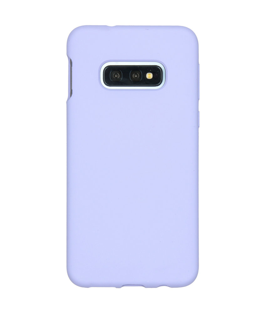 Accezz Liquid Silicone Backcover Samsung Galaxy S10e - Paars