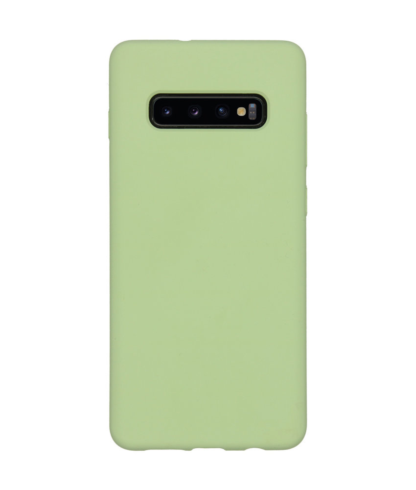 Accezz Liquid Silicone Backcover Samsung Galaxy S10 Plus - Groen