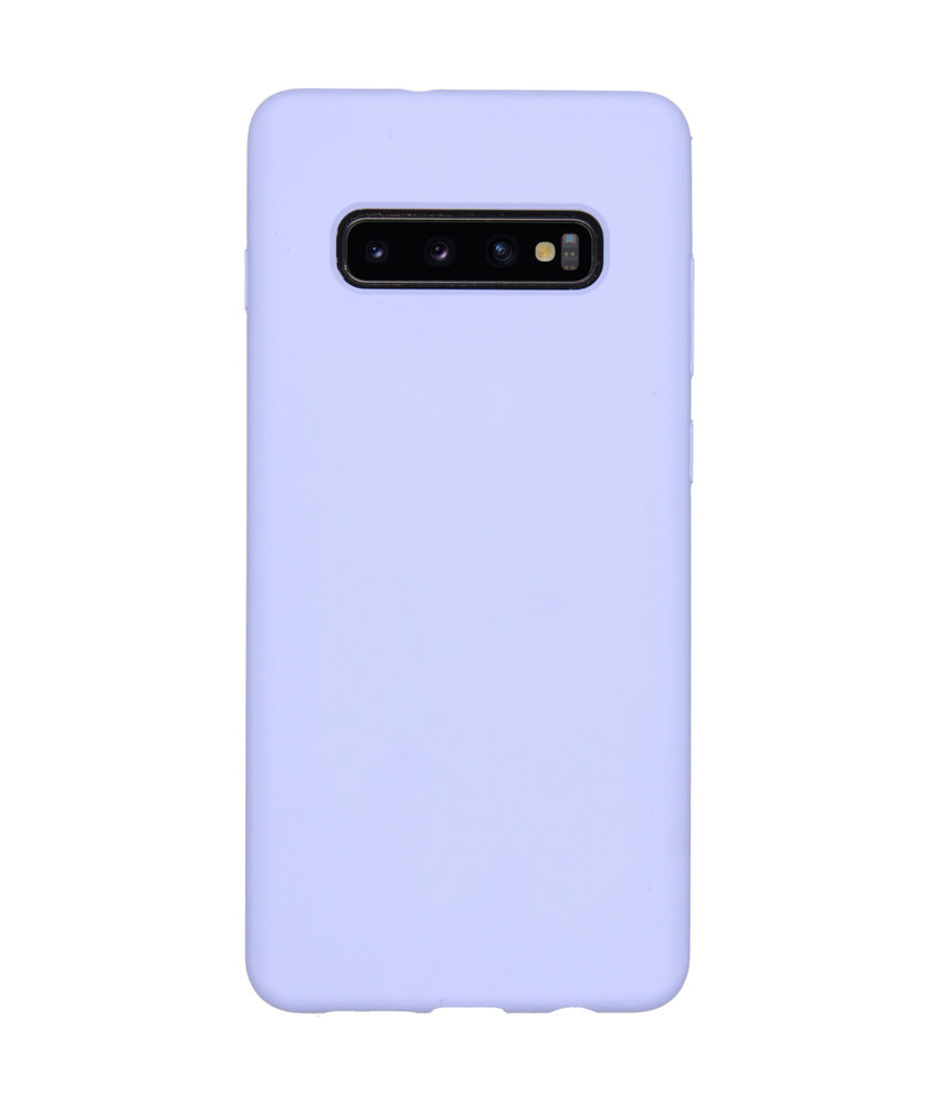 Accezz Liquid Silicone Backcover Samsung Galaxy S10 Plus - Paars