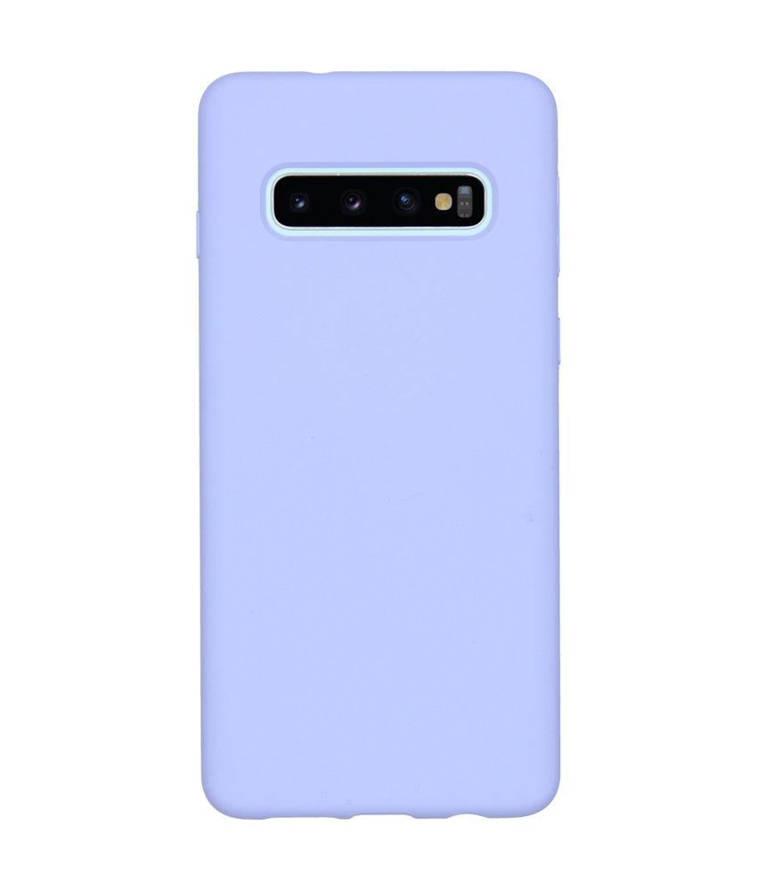 Accezz Liquid Silicone Backcover Samsung Galaxy S10 - Paars