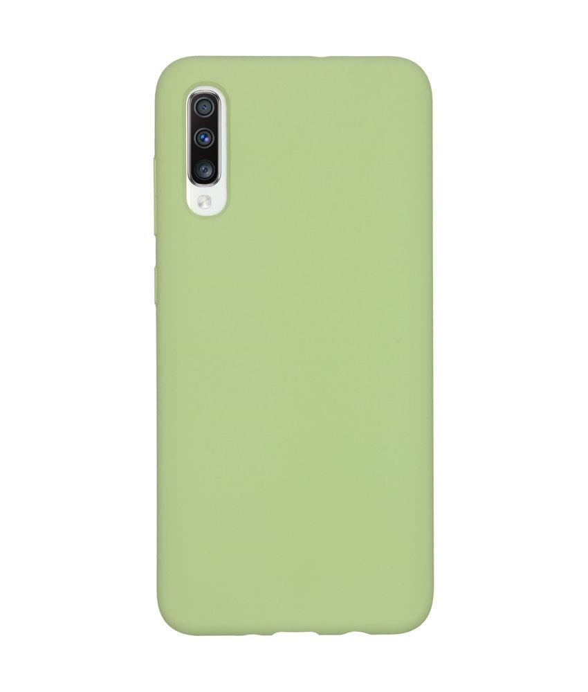 Accezz Liquid Silicone Backcover Samsung Galaxy A70 - Groen