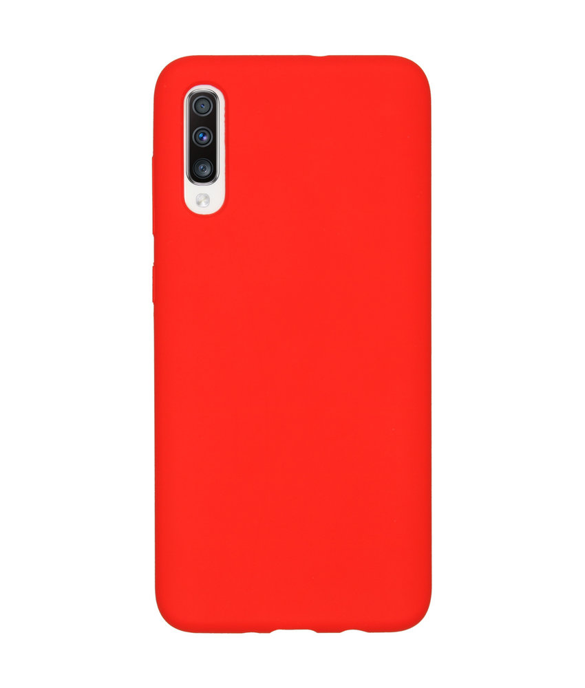 Accezz Liquid Silicone Backcover Samsung Galaxy A70 - Rood