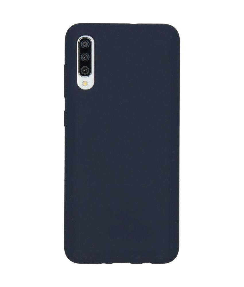 Accezz Liquid Silicone Backcover Samsung Galaxy A70 - Blauw