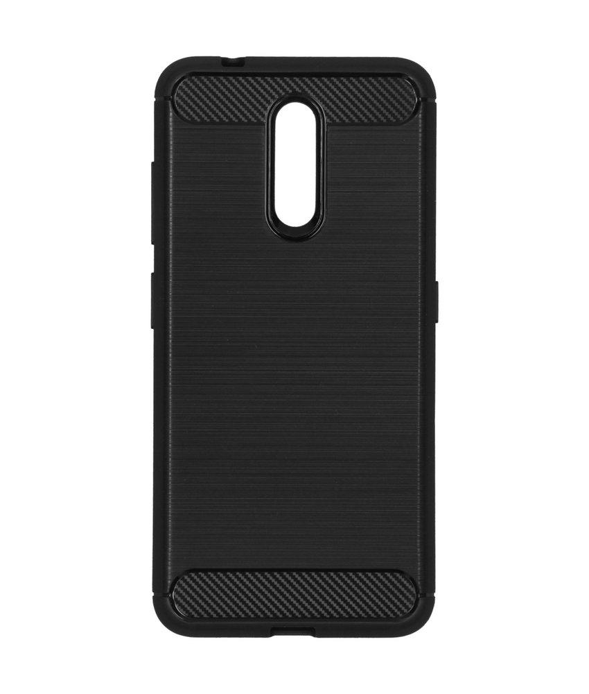 Brushed Backcover Nokia 3.2 - Zwart