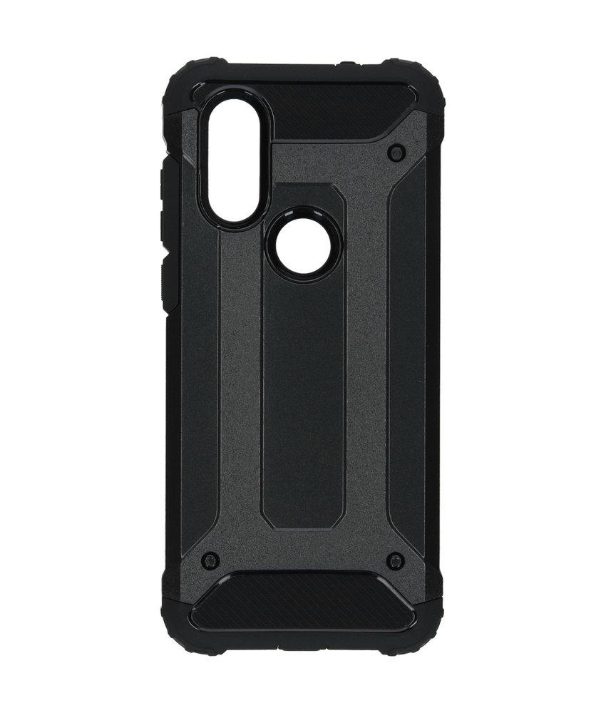 iMoshion Rugged Xtreme Backcover Motorola One Vision - Zwart