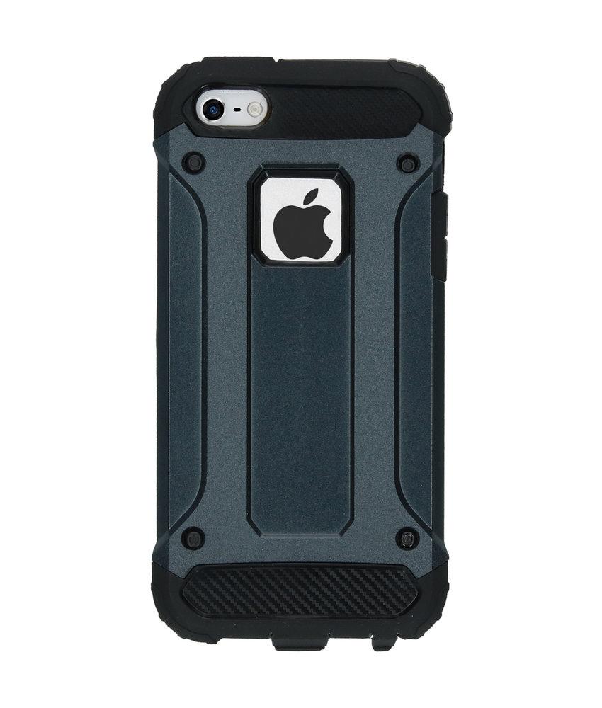 iMoshion Rugged Xtreme Backcover iPhone SE / 5 / 5s - Donkerblauw