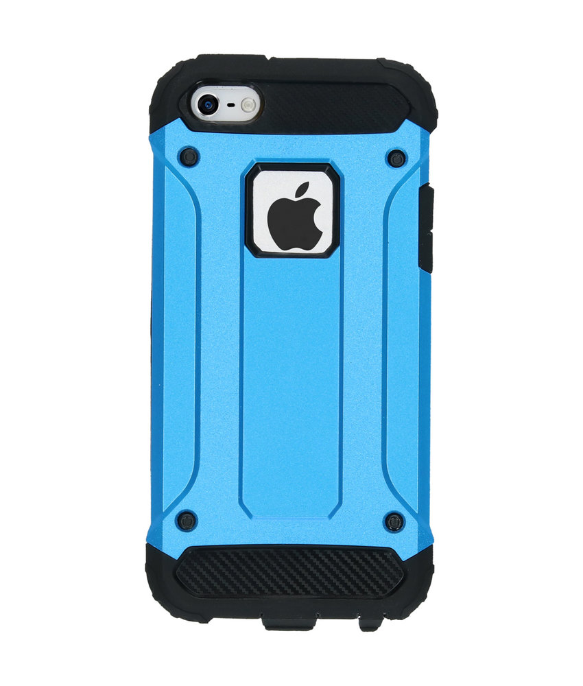 iMoshion Rugged Xtreme Backcover iPhone SE / 5 / 5s - Lichtblauw