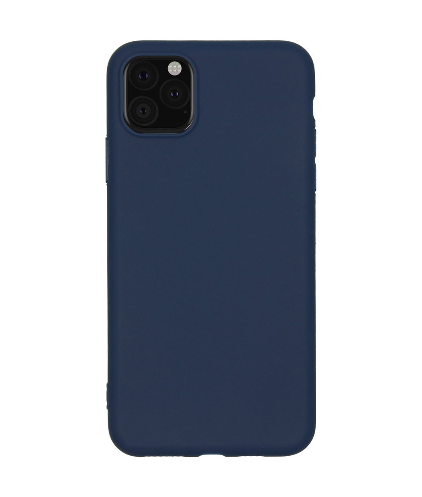 Color Backcover iPhone 11 Pro Max - Donkerblauw