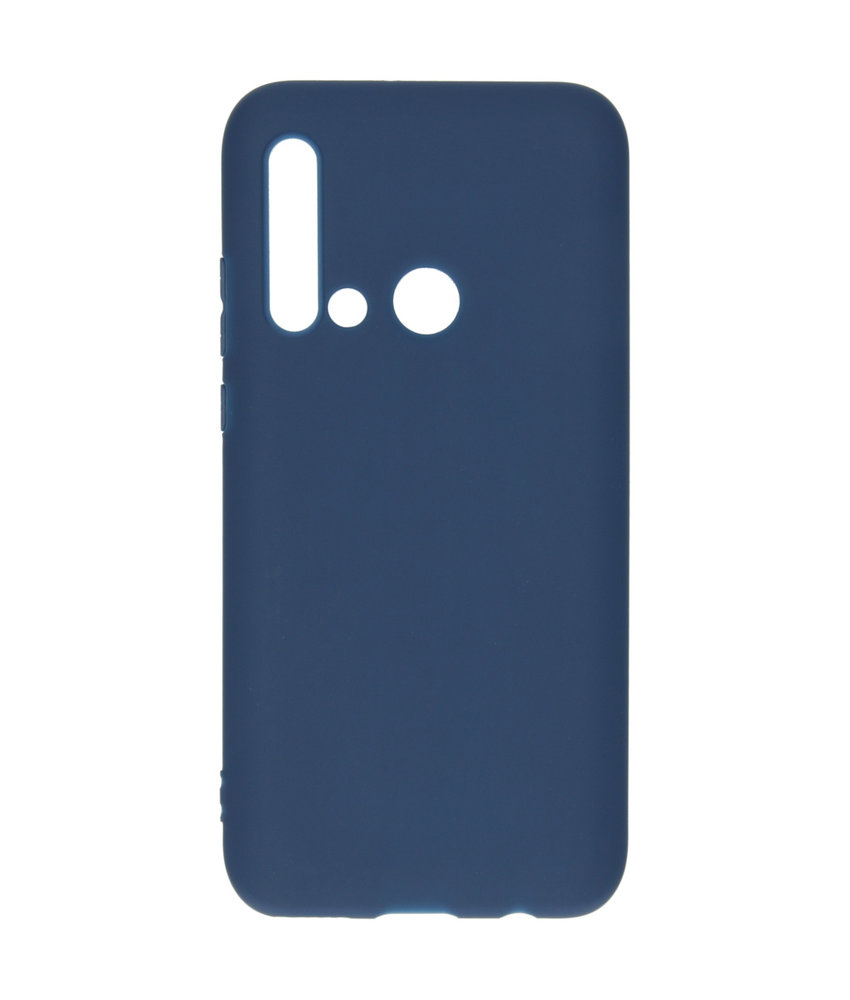 Color Backcover Huawei P20 Lite (2019) - Donkerblauw