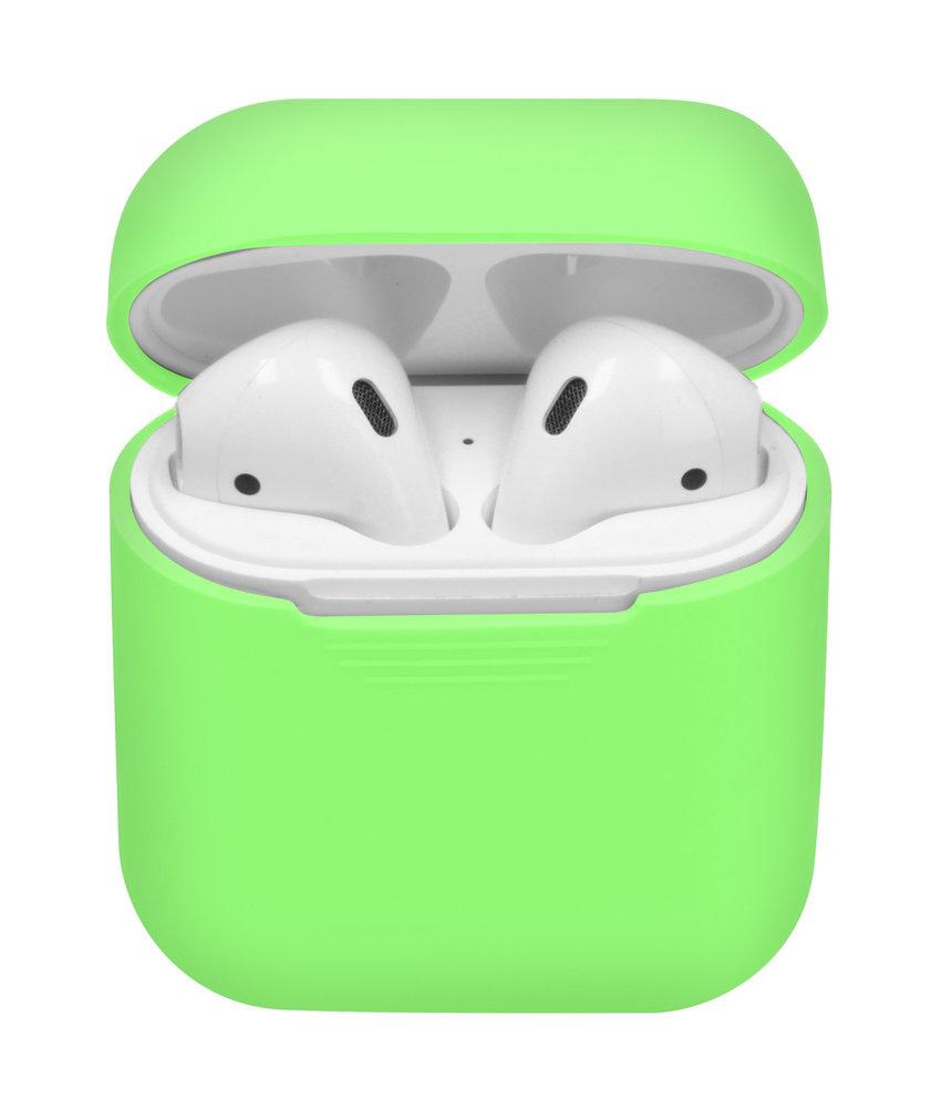 Siliconen Case voor AirPods - Fluor Groen