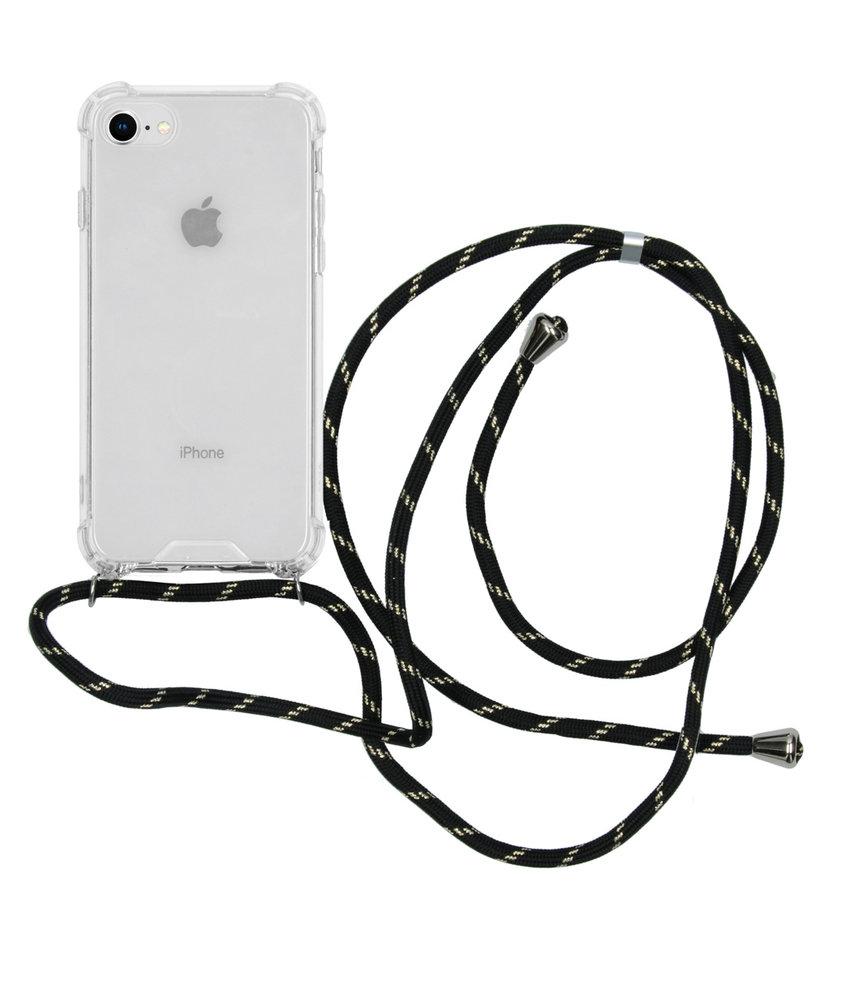 iMoshion Backcover met koord iPhone 8 / 7 - Zwart Goud