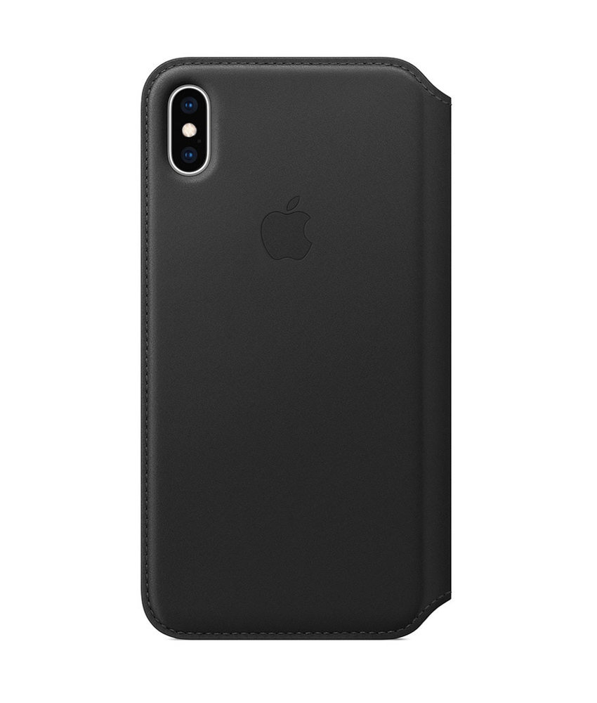 Apple Leather Folio Booktype iPhone Xs Max - Zwart
