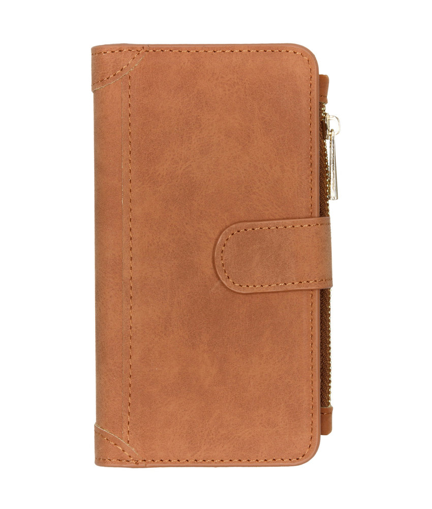 Luxe Portemonnee Samsung Galaxy Note 10 - Bruin