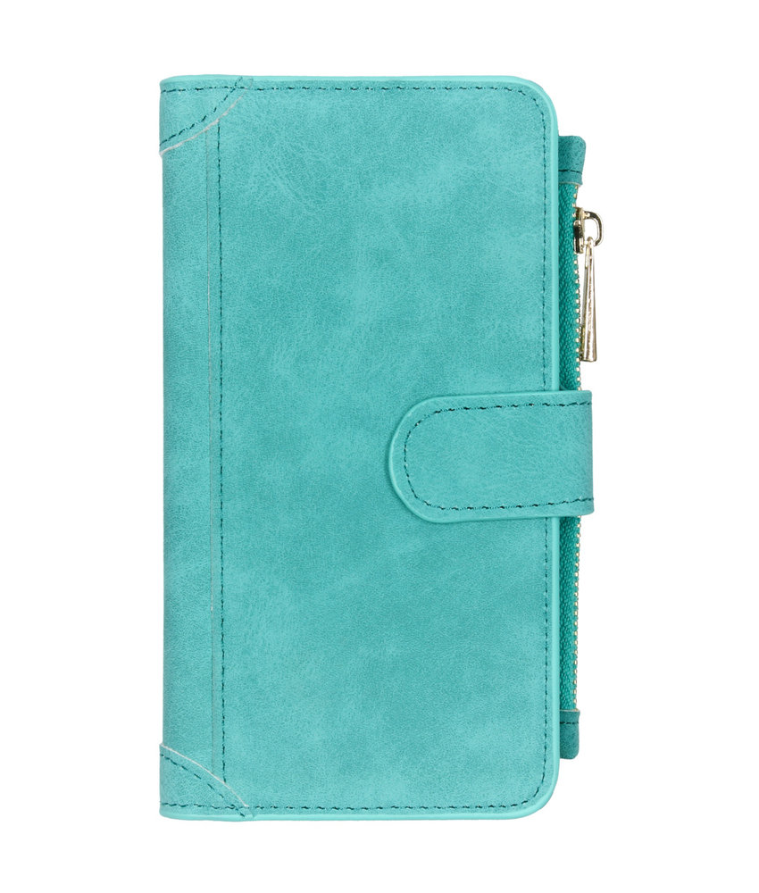 Luxe Portemonnee Samsung Galaxy Note 10 - Turquoise