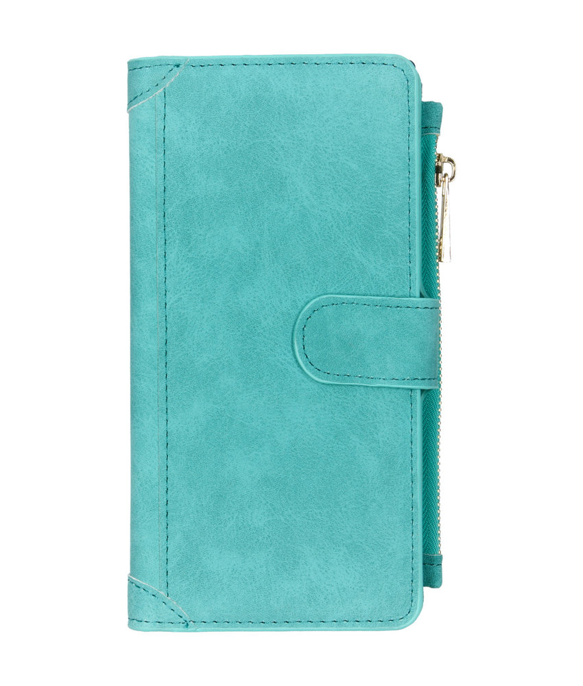 Luxe Portemonnee Samsung Galaxy Note 10 Plus - Turquoise