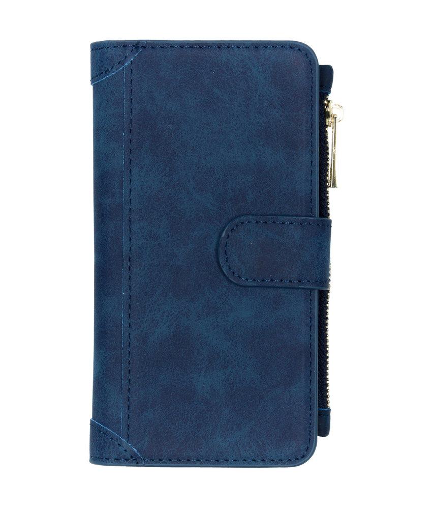 Luxe Portemonnee iPhone 11 - Donkerblauw