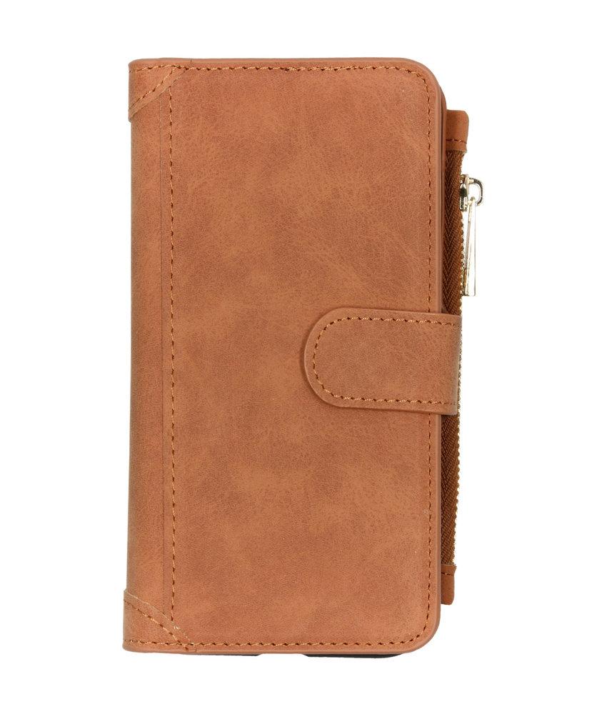 Luxe Portemonnee iPhone 11 - Bruin