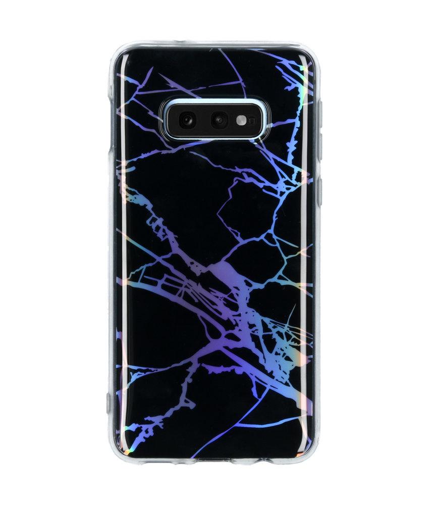 Holographic Marble Backcover Samsung Galaxy S10e - Zwart