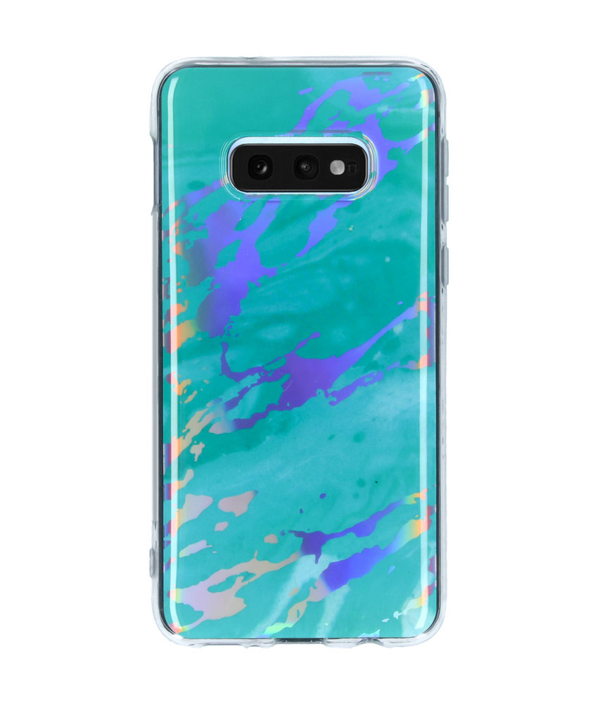 Holographic Marble Backcover Samsung Galaxy S10e - Groen