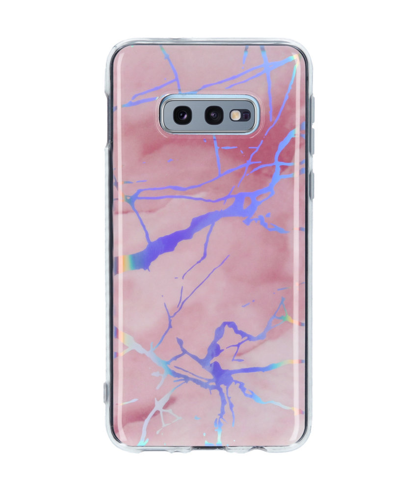 Holographic Marble Backcover Samsung Galaxy S10e - Roze