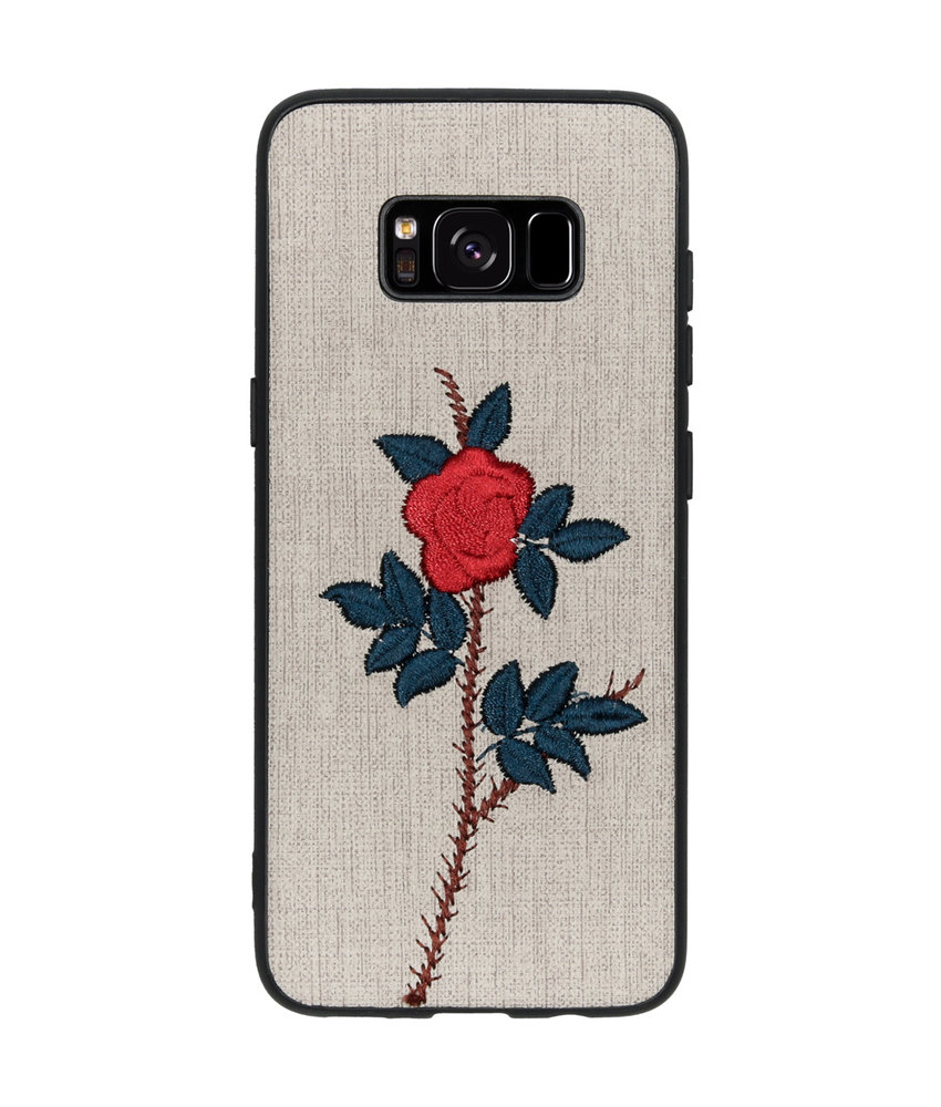 Geborduurde Backcover Samsung Galaxy S8 - Rose Grey