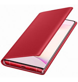 Samsung LED View Booktype voor de Samsung Galaxy Note 10 - Rood