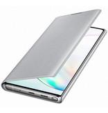 Samsung LED View Booktype voor de Samsung Galaxy Note 10 Plus - Zilver