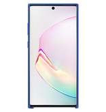 Samsung Silicone Backcover voor de Samsung Galaxy Note 10 Plus - Blauw