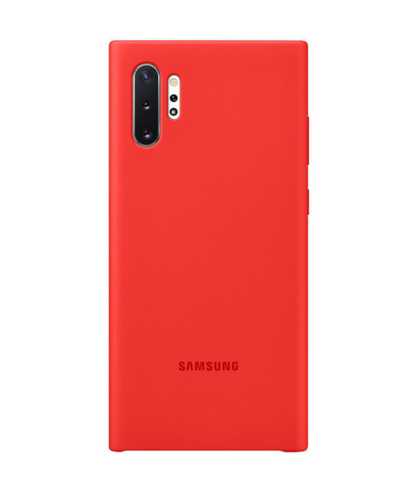 Samsung Silicone Backcover Samsung Galaxy Note 10 Plus - Rood