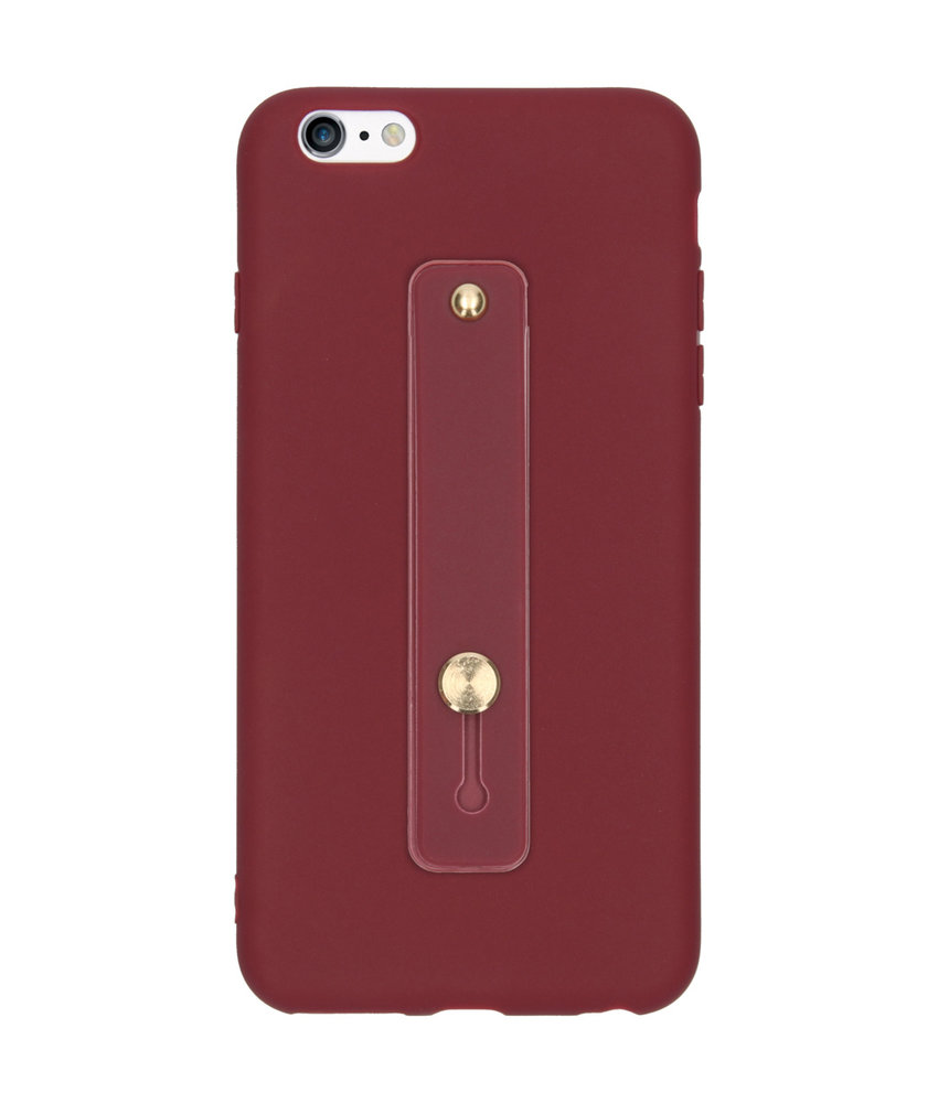 Softcase Backcover met Lus iPhone 6(s) Plus - Donkerrood