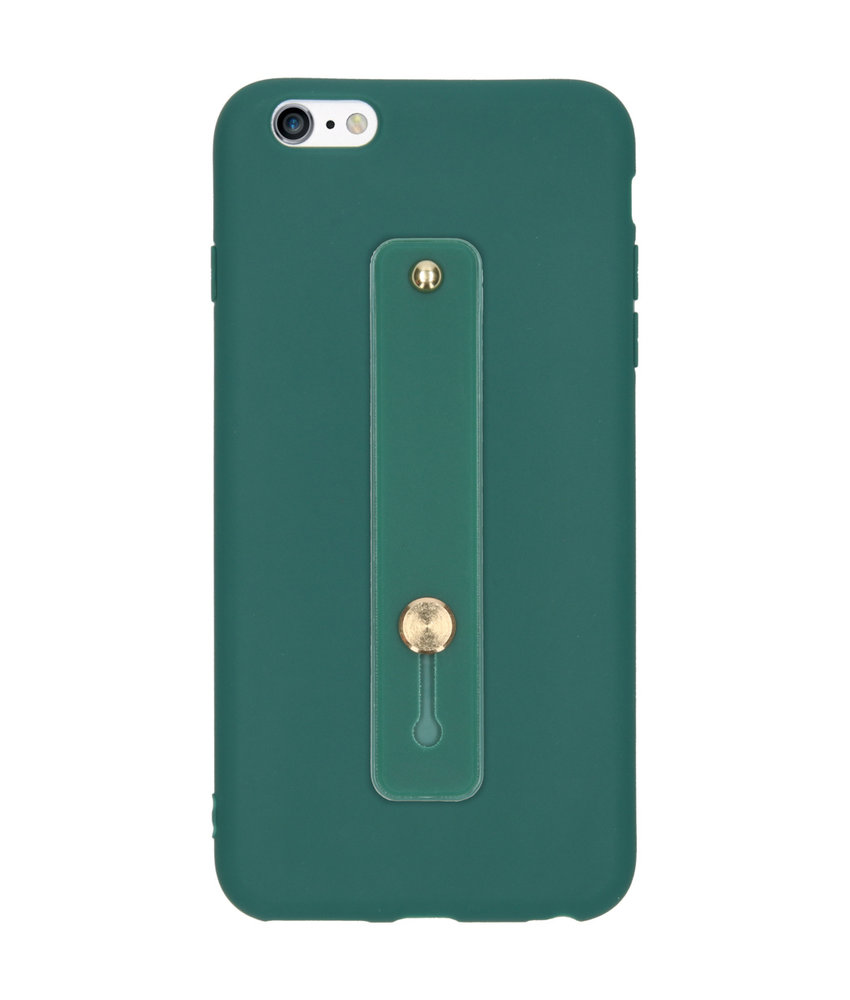 Softcase Backcover met Lus iPhone 6(s) Plus - Donkergroen