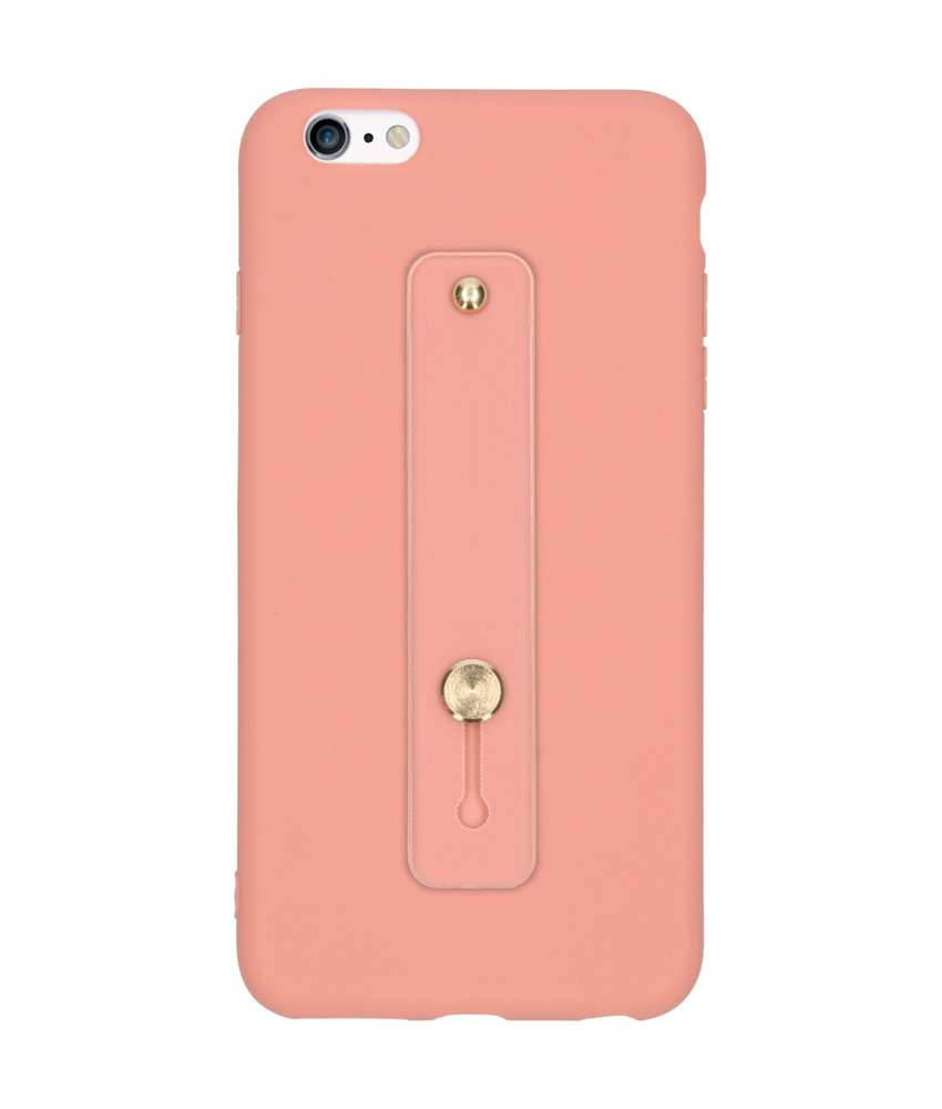 Softcase Backcover met Lus iPhone 6(s) Plus - Roze