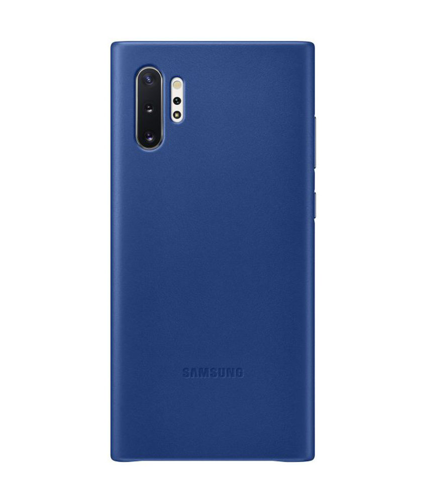 Samsung Leather Backcover Samsung Galaxy Note 10 - Blauw