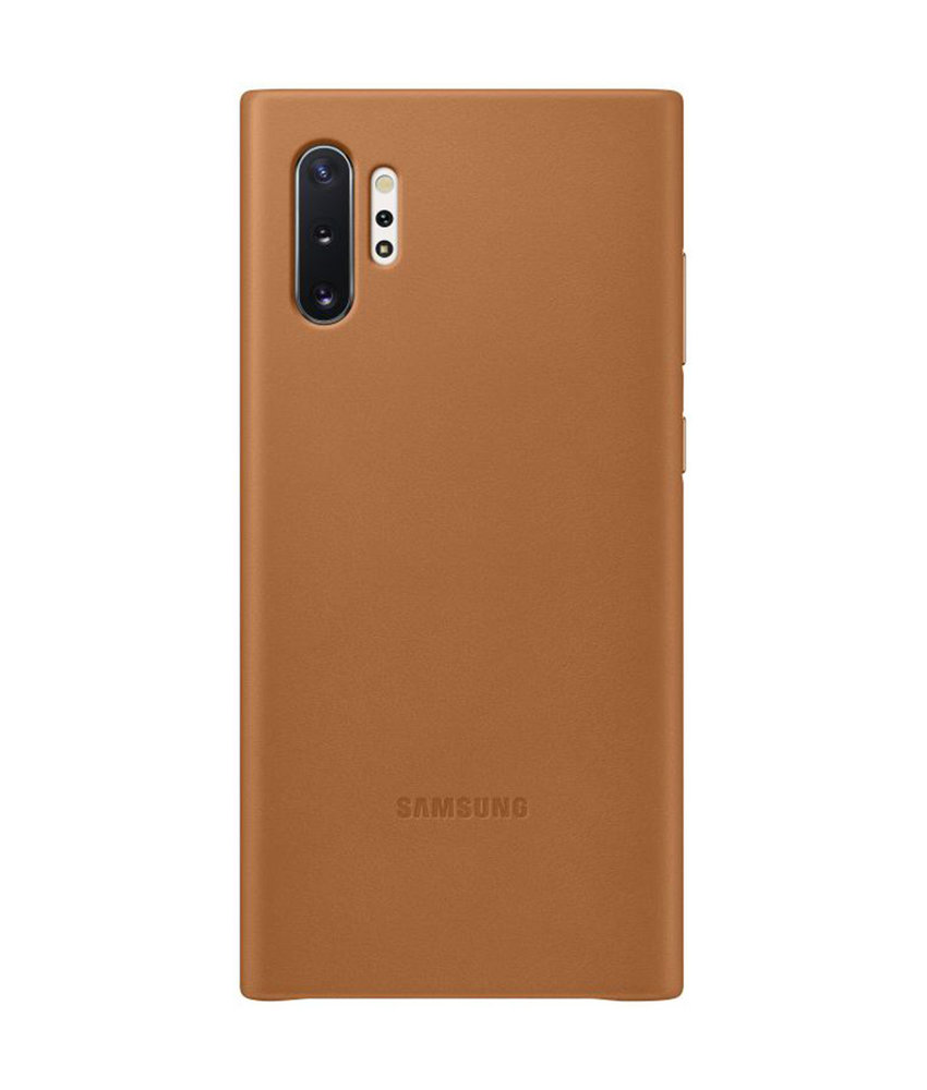 Samsung Leather Backcover Samsung Galaxy Note 10 - Bruin