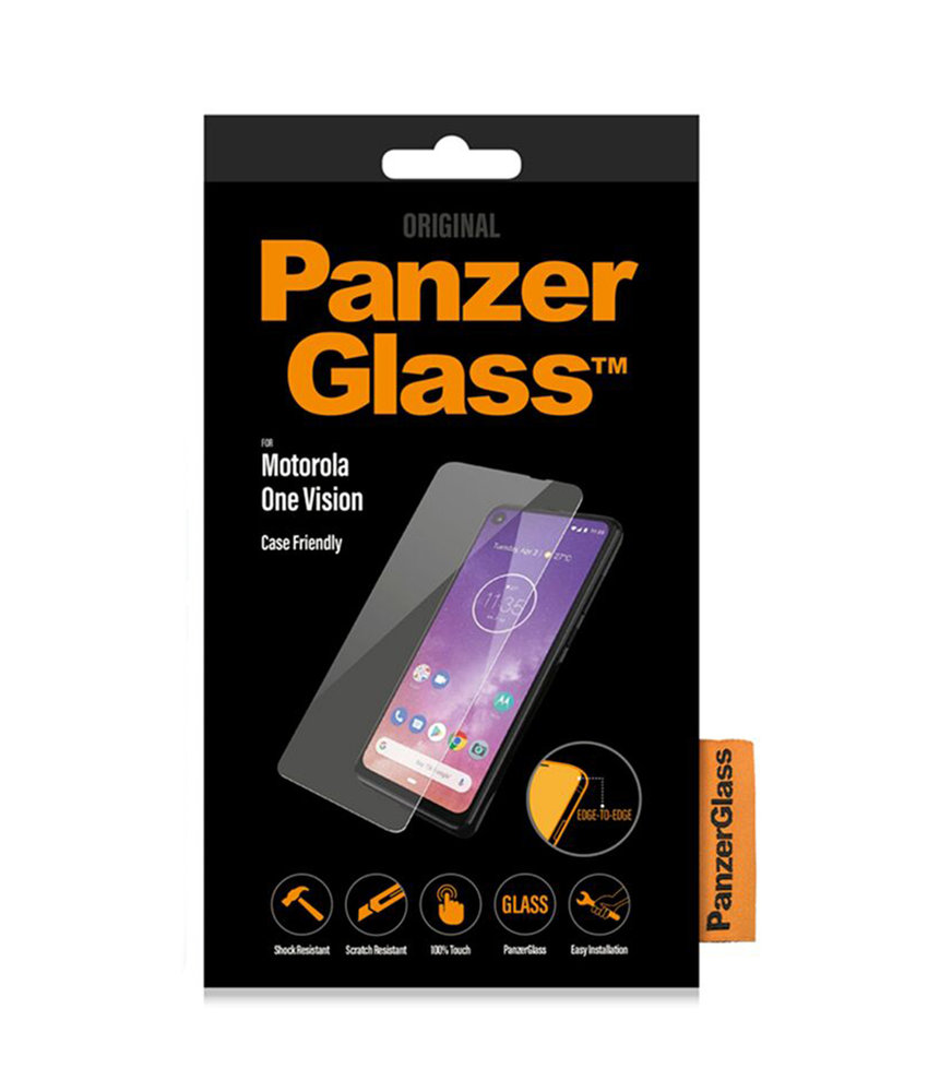 PanzerGlass Case Friendly Screenprotector Motorola One Vision