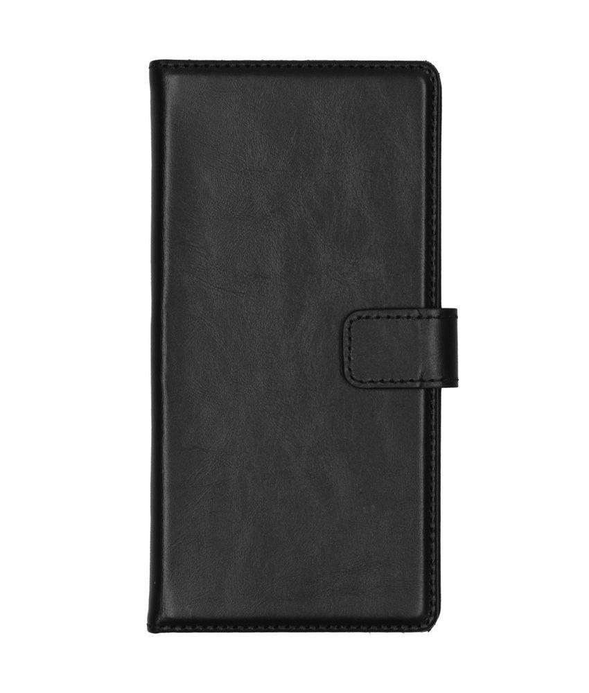 Selencia Echt Lederen Booktype Samsung Galaxy Note 10 - Zwart