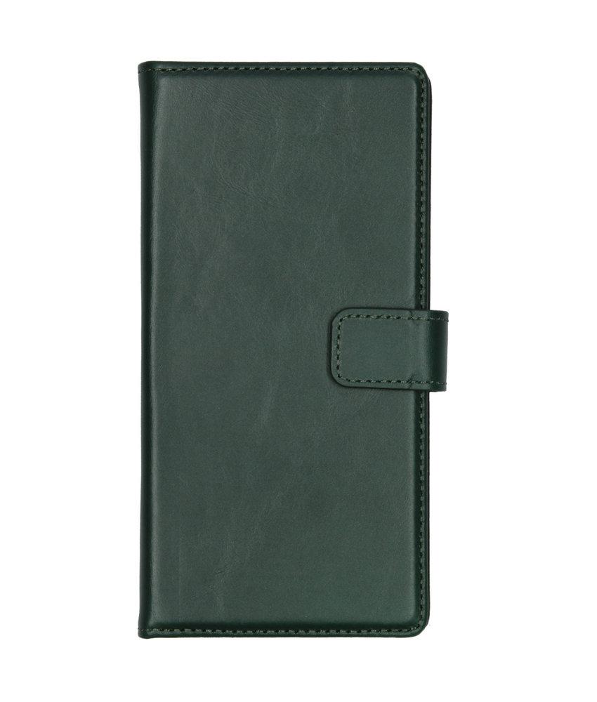 Selencia Echt Lederen Booktype Samsung Galaxy Note 10 - Groen