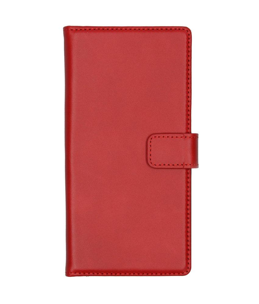 Selencia Echt Lederen Booktype Samsung Galaxy Note 10 - Rood