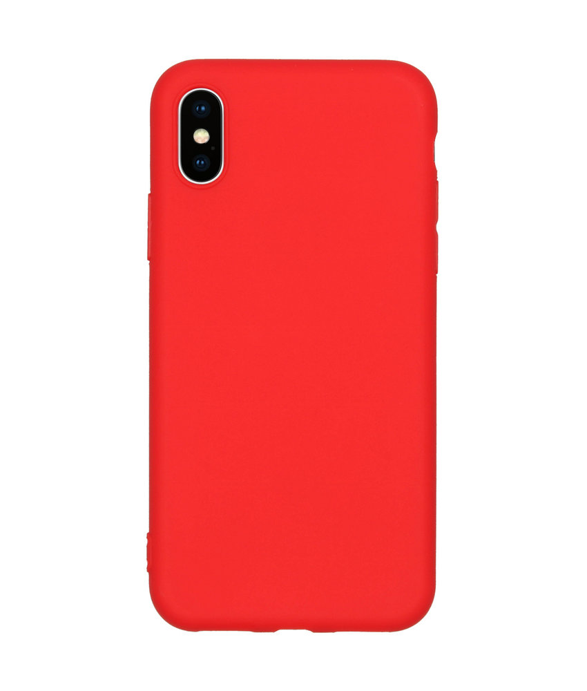 Color Backcover iPhone X / Xs - Rood