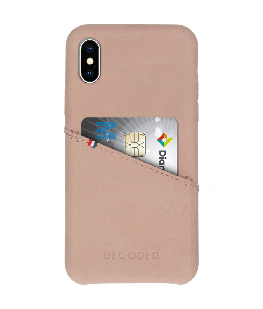 Decoded Leather Backcover iPhone X