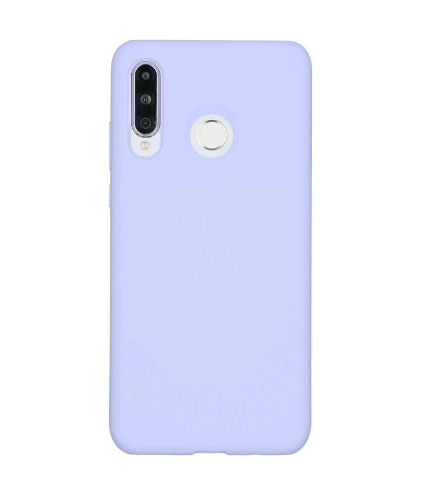Accezz Liquid Silicone Backcover Huawei P30 Lite - Paars