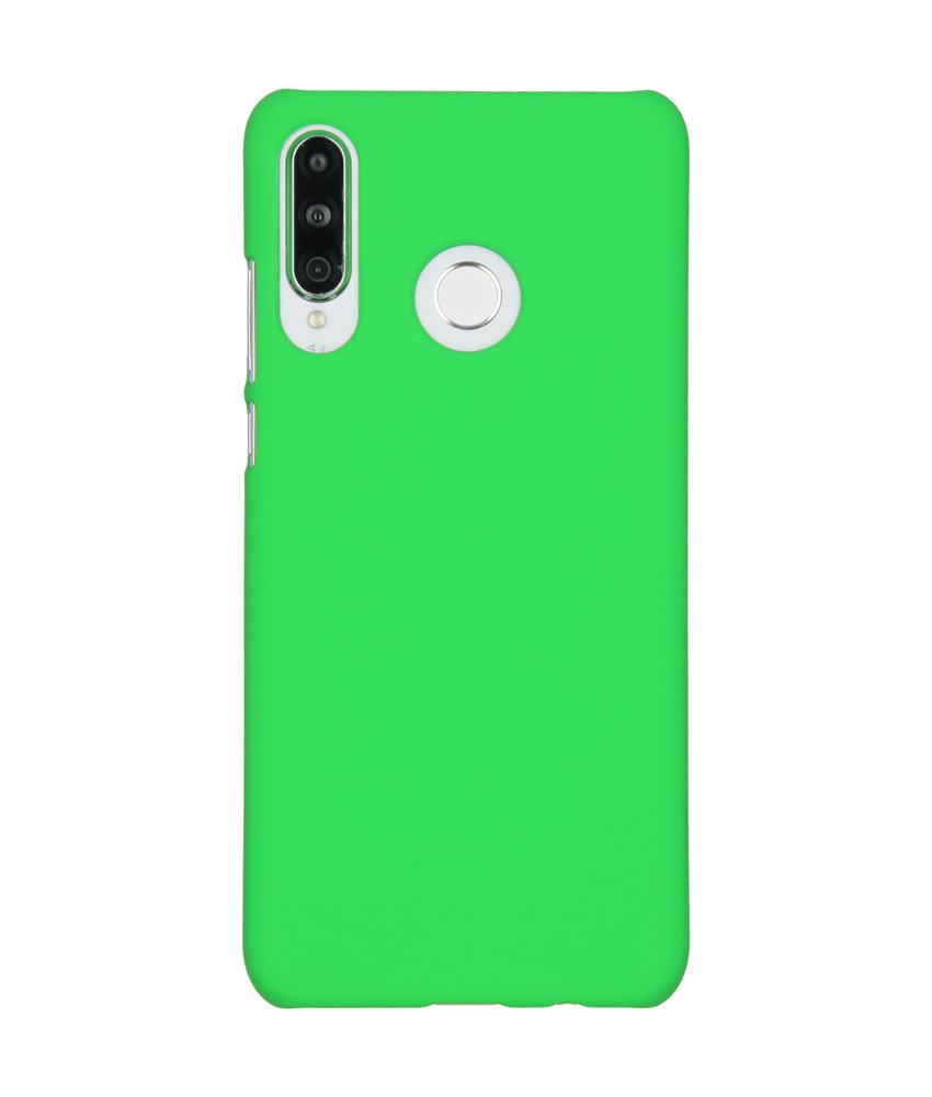 Effen Backcover Huawei P30 Lite - Groen