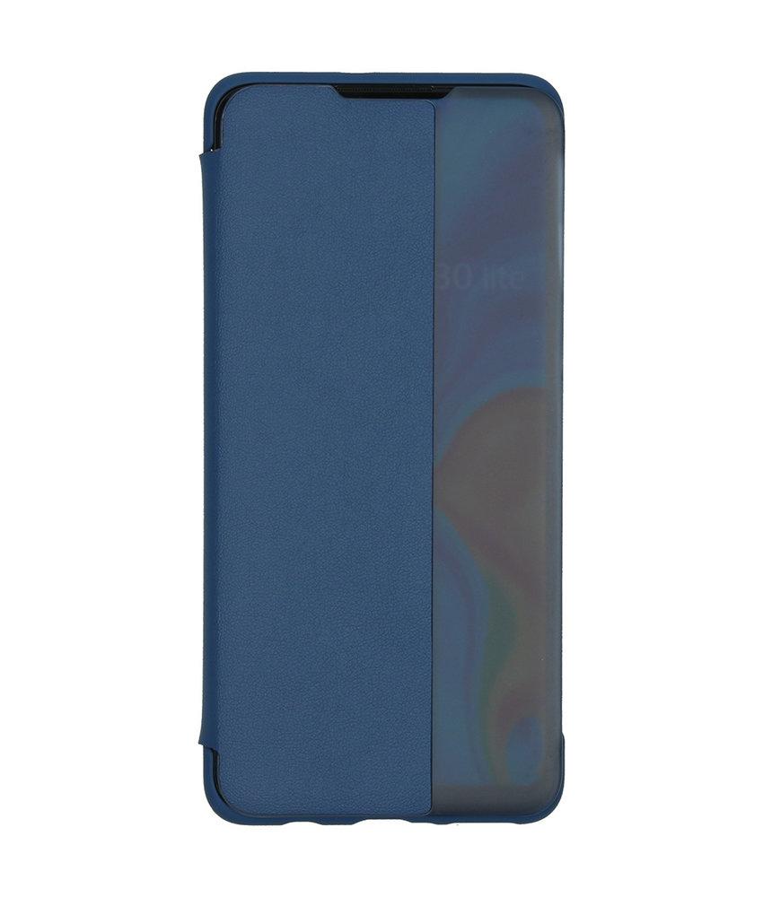 Huawei Smart View Flip Case Huawei P30 Lite - Blauw