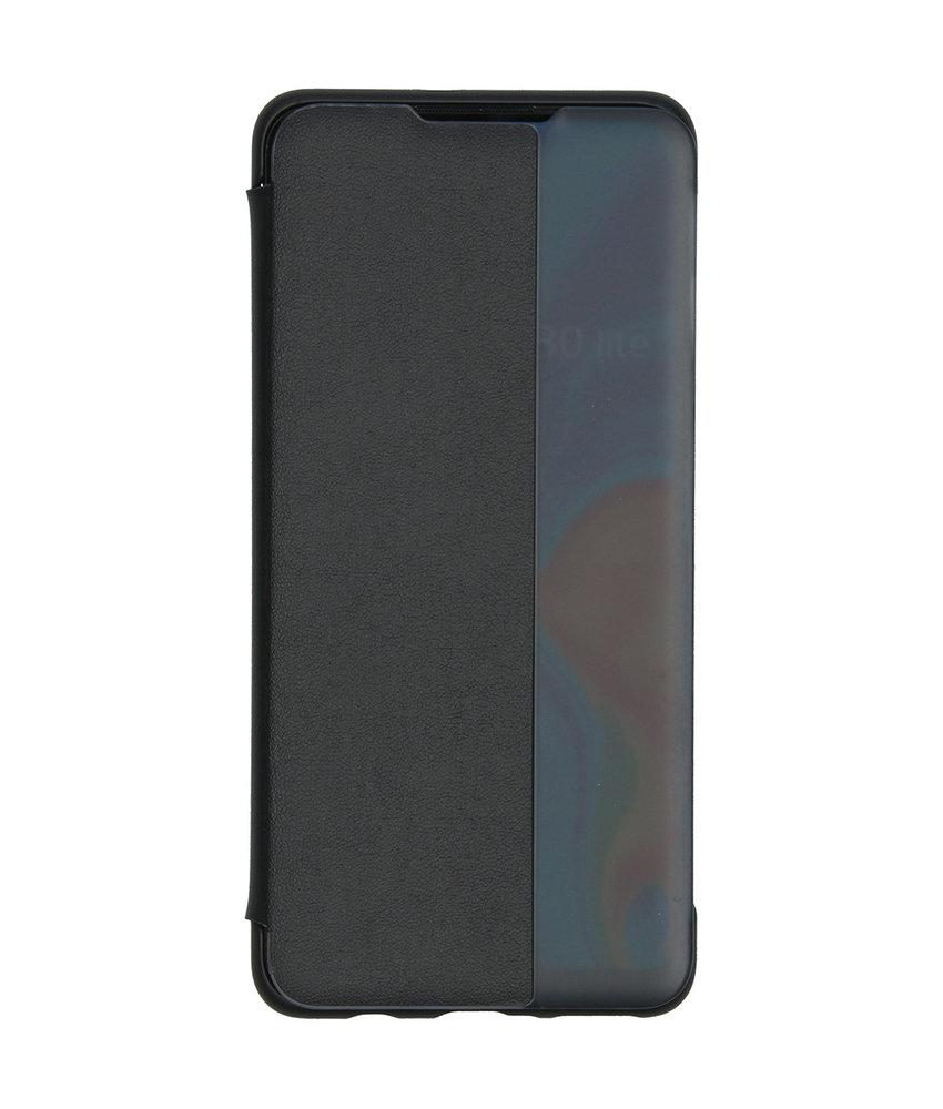 Huawei Smart View Flip Case Huawei P30 Lite - Zwart